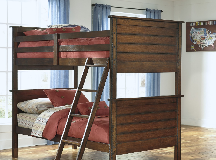 a bunk bed in a bedroom